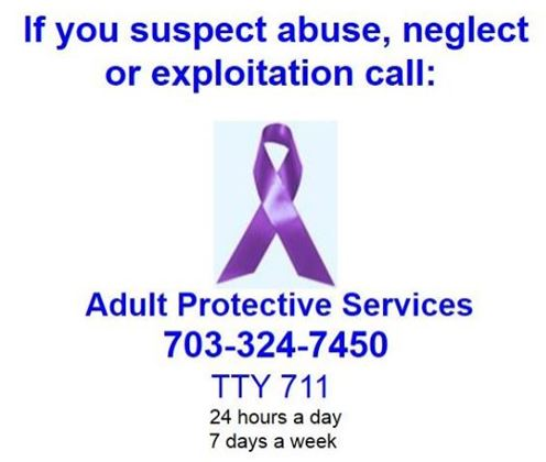 Adult Protective Services graphic with ribbon