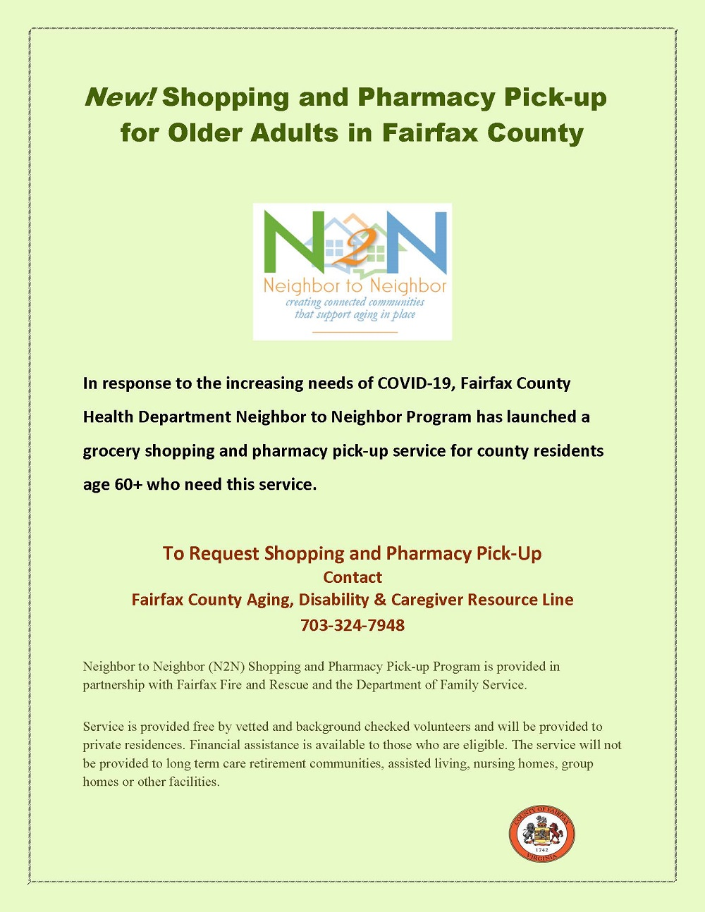 n2n Shopping and Pharmacy Pick-up