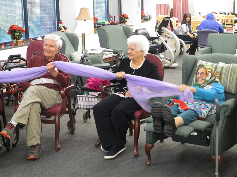 Seated activity at Lewinsville Adult Day Health Care