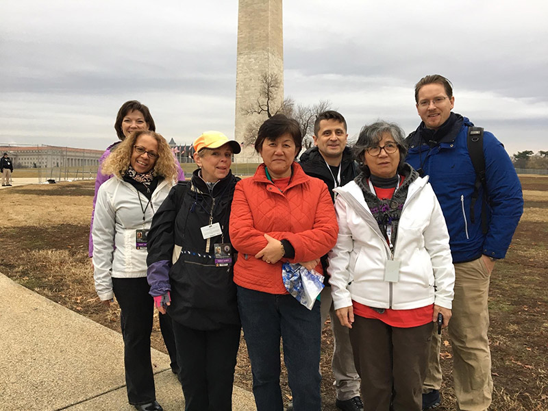 MRC volunteers at the Washington Monument provide support for the 2017 Presidential Inauguration event