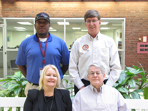 Four members of the Environmental Health Strike Team: Lois Maisel, John Yetman, Isaac Robertson and Ron Campbell