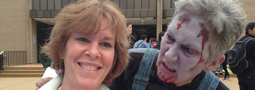 MRC volunteer meets a zombie at a training exercise