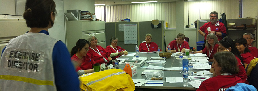 MRC volunteers participate in an exercise