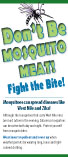 Don't Be Mosquito Meat Card