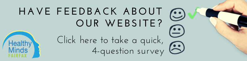 Checkboxes with request to participate in survey about website