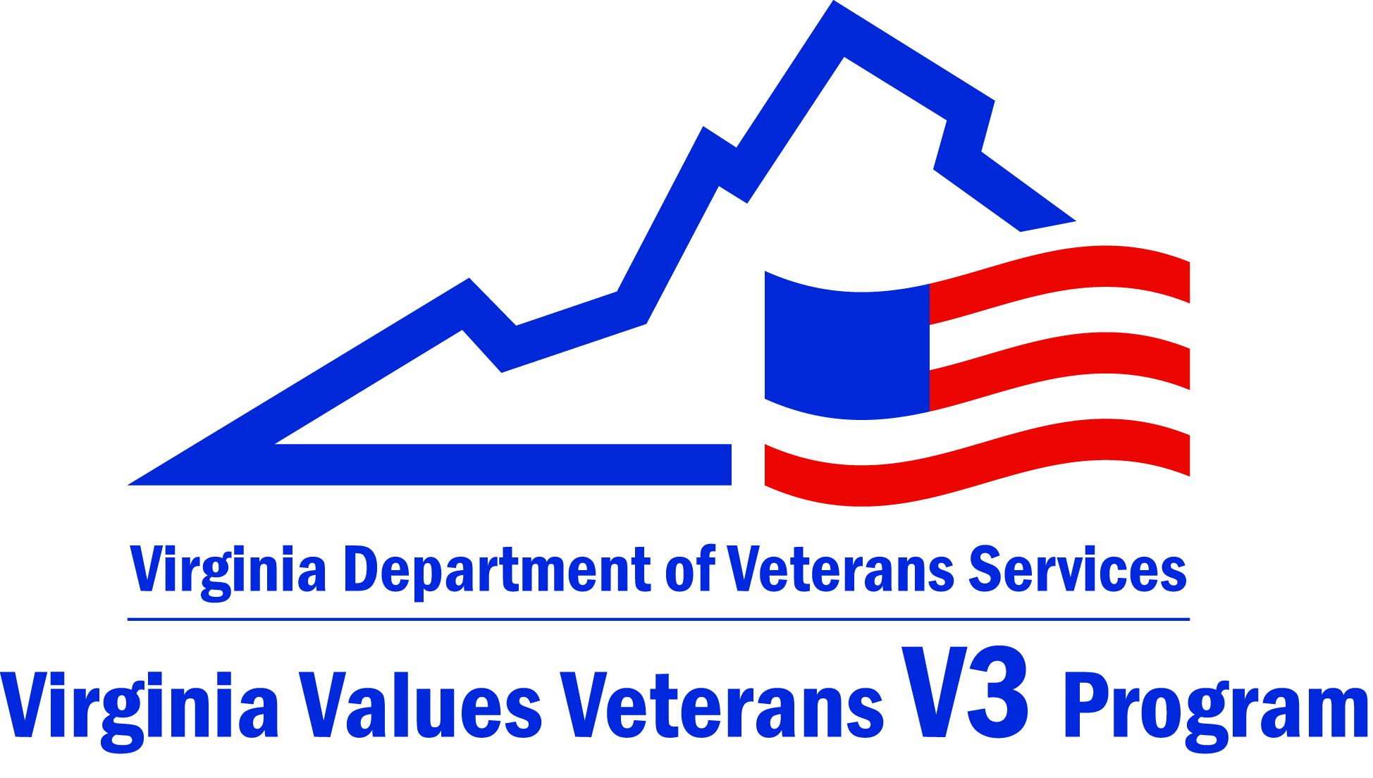 Virginia Values Veterans (V3) logo