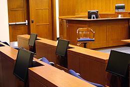 Image of high tech courtroom in Fairfax
