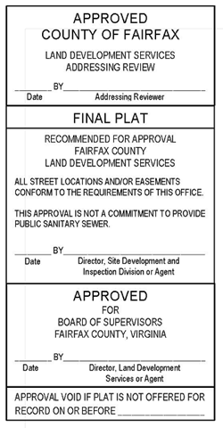 Land development notices land development services land development services has updated the approval stamps for final plats and the template is attached it is available in pdf and pronofoot35fo Images