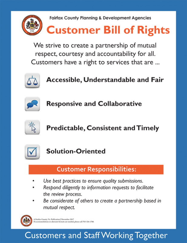 Customer Service Bill of Rights