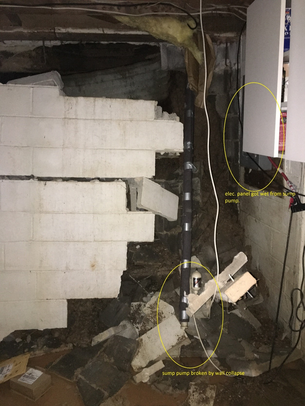 Wet Weather Causes Basement Wall Troubles