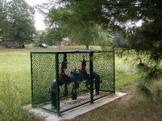 Backflow Prevention Assembly in cage protection