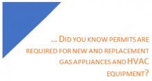 you need a permit to replace gas appliances box