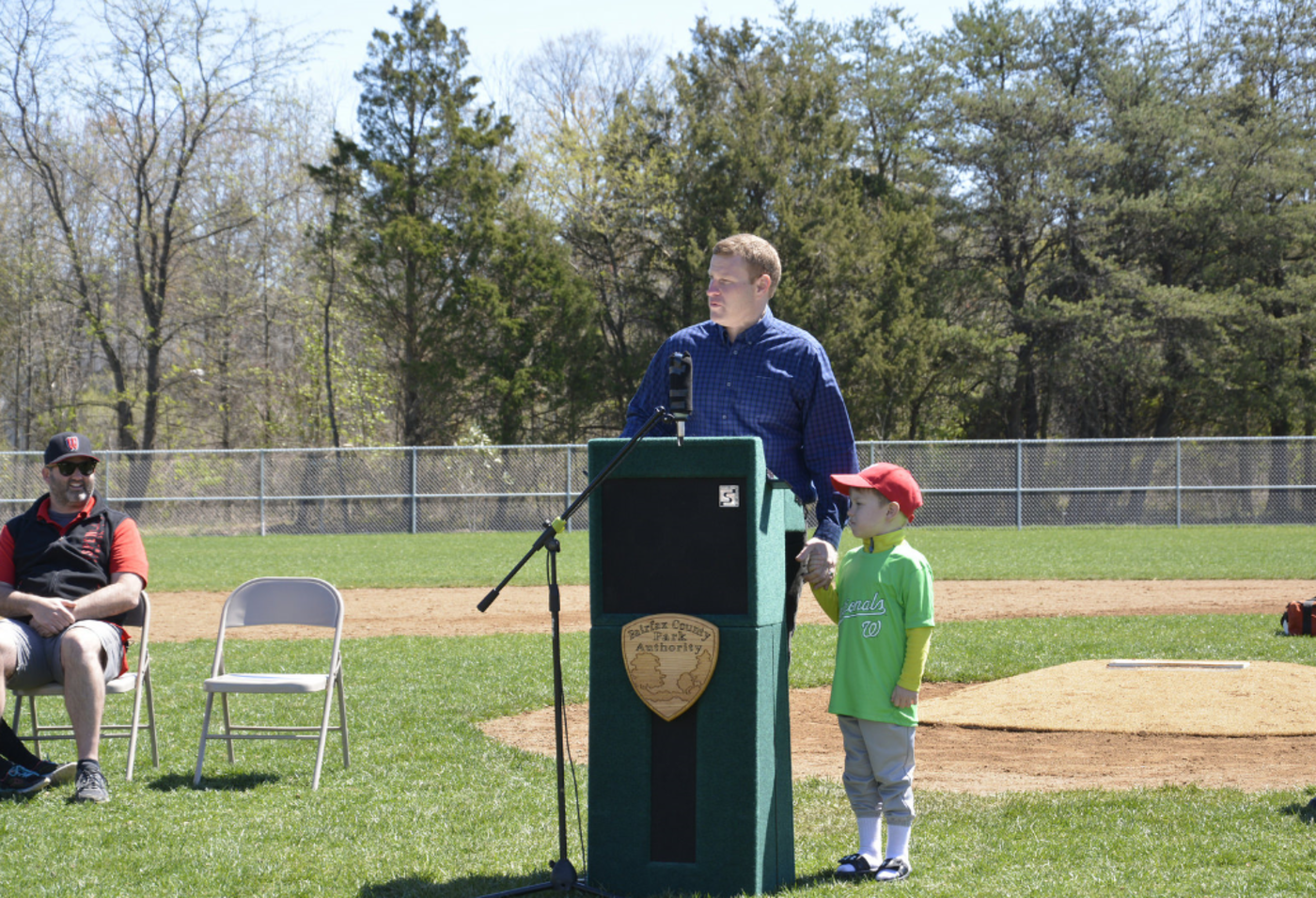 Supervisor McKay at a park ceremony