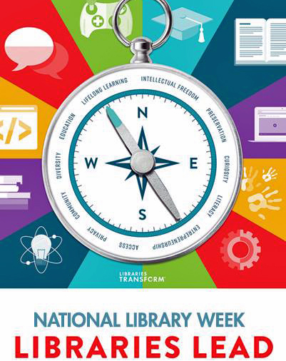 National Library Week 2018 Logo - Libraries Lead