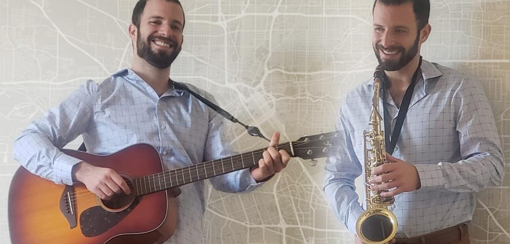 Ben Pernick plays guitar and sax.