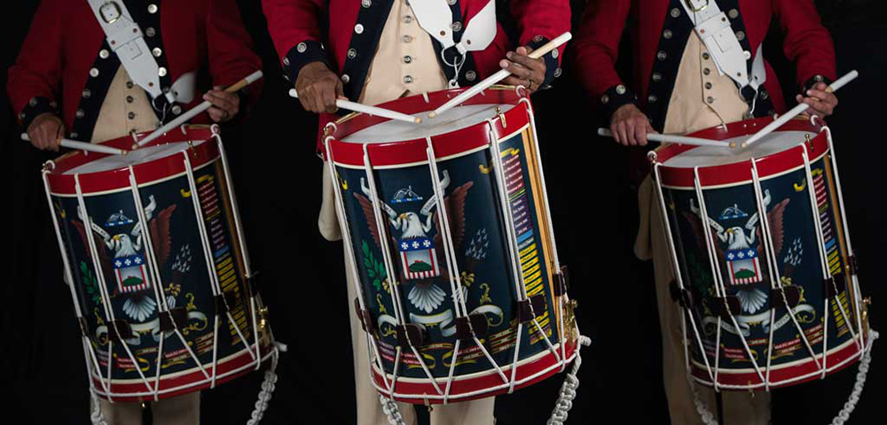 The United States Army Old Guard Fife and Drum Corps.