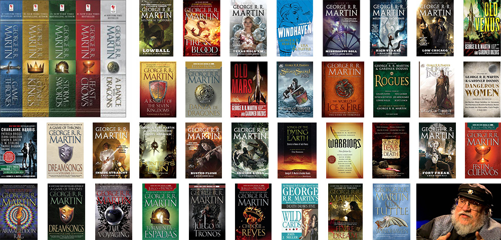 Winter is coming. Books from George R.R. Martin.