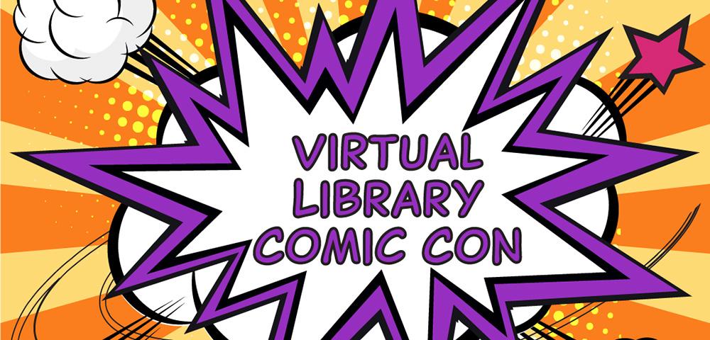 Library Comic Con graphic