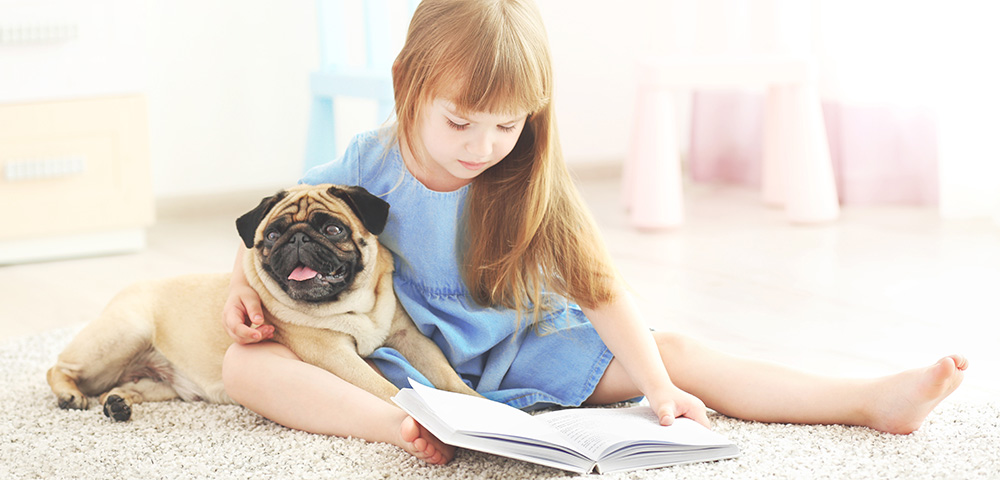 Practice reading with a furry friend.