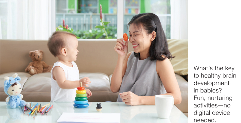 Mother and child develop brain healthy