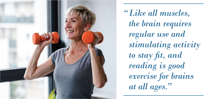 Strength training woman and brain health quote