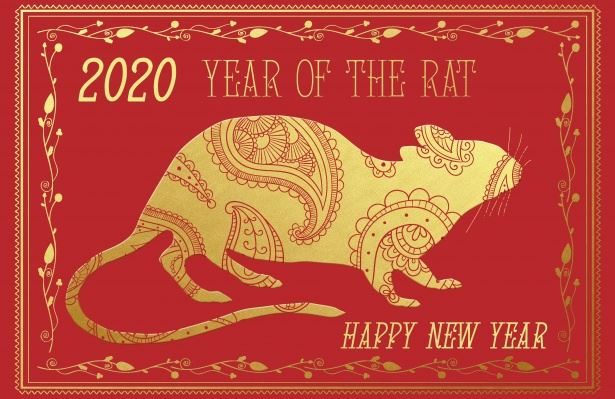 2020 Year of the Rat Happy New Year