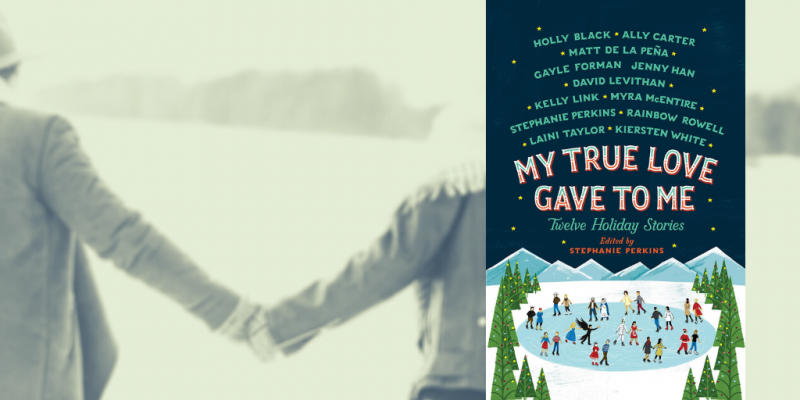 My True Love Gave to Me book cover on photo of couple holding hands in the snow