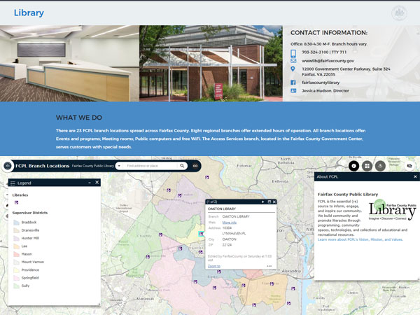 Fairfax County GIS and Mapping Services Homepage | GIS and Mapping