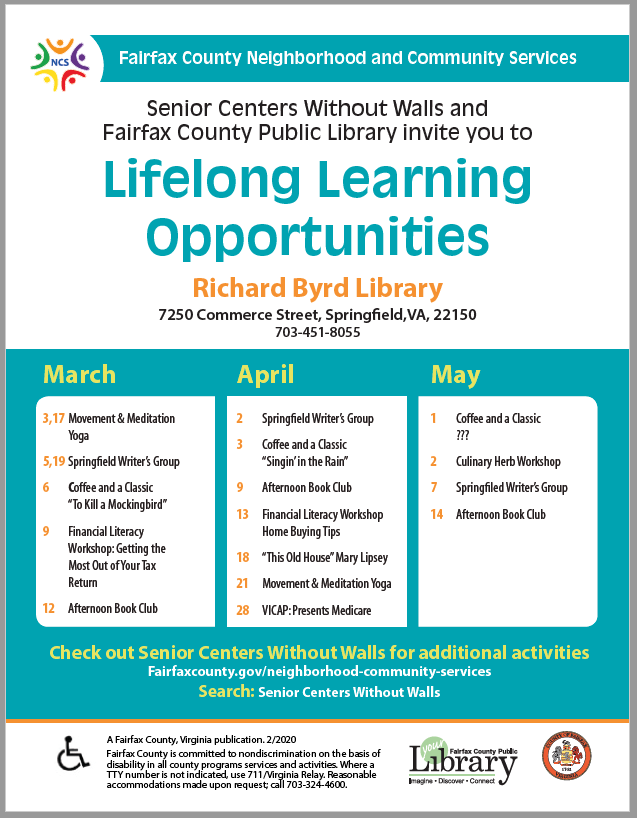 Lifelong Learning Opportunities Flyer