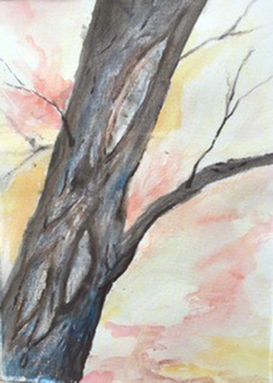 Watercolor of a tree
