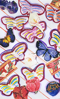 Painting of butterflies