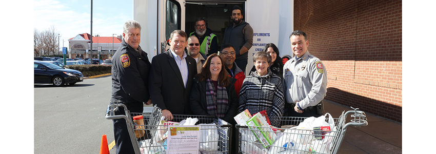 County and Community come together to help feed Fairfax families in and around the Clifton area.