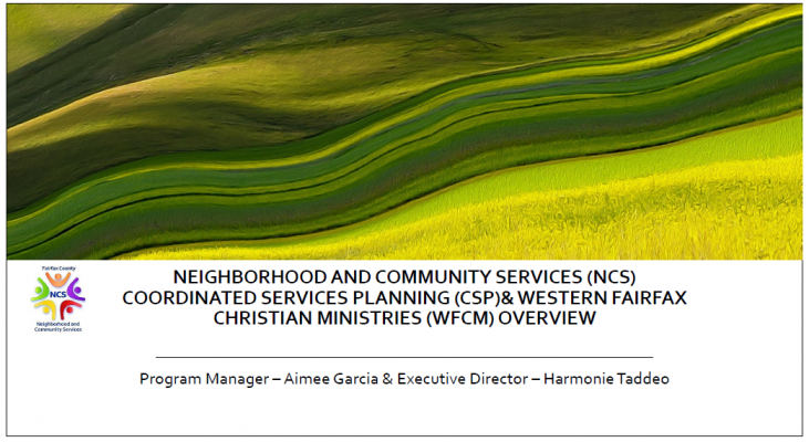 NCS and Western Fairfax Christian Ministries Overview