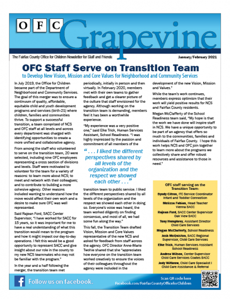 OFC Grapevine Newsletter January/February 2021 Edition Now Available