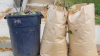 paper bags filled with yard waste