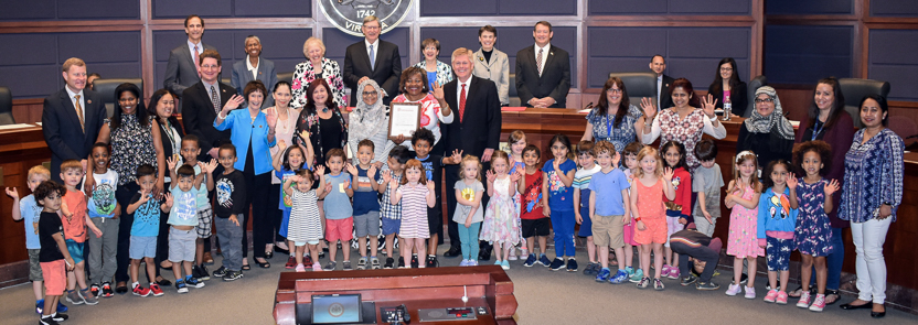 2019 Child Care Professionals Week proclamation group photo