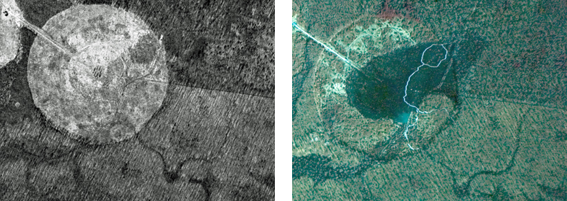 1971 and 1984 aerial views of Huntley Meadows