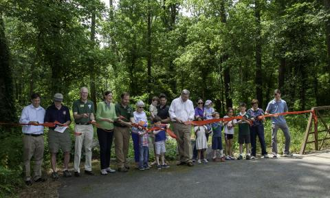 Parks and DPWES Mark Completion of Dead Run Stream Restoration