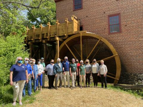New Waterwheel & Flume Opened at Colvin Run Mill