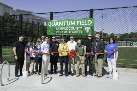 Quantum Field Ribbon Cutting Brings New Turf to Tysons