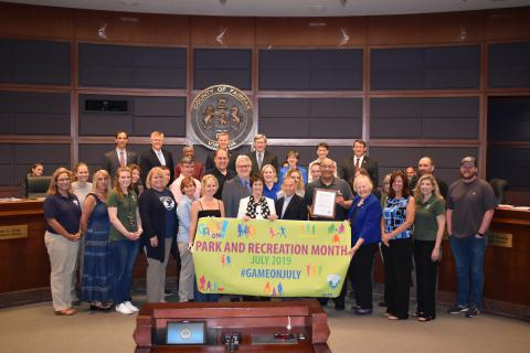 Recreation and Parks Month Proclaimed For July