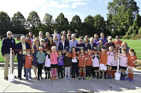 Ribbon Cut on New Synthetic Turf Field in Falls Church