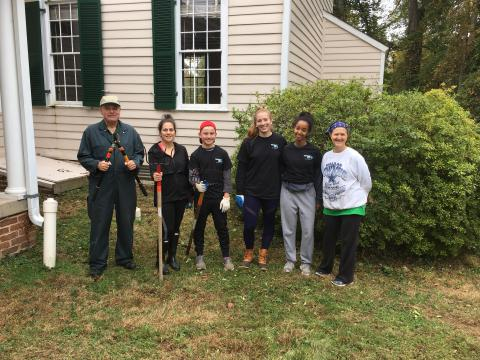 Volunteers Turn Out for Clean-up at Historic Ash Grove