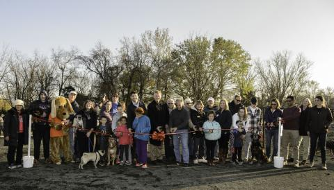 Monticello Park Dedication Highlights Dog Park, Other Amenities