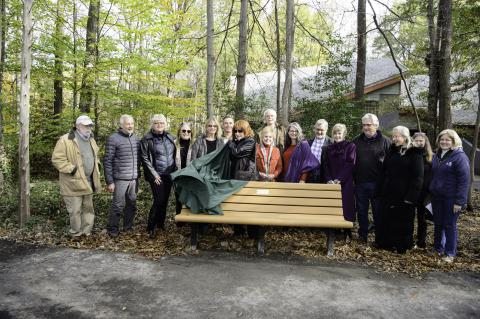 Park Bench Dedication Held for Former Park Director