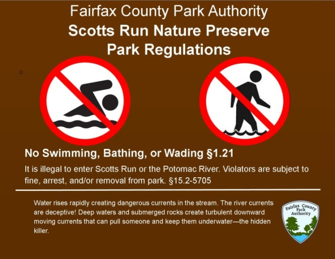 No Swimming at Scott's Run poster