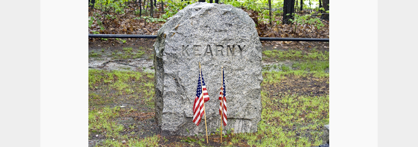 Memorial marker for General Kearny