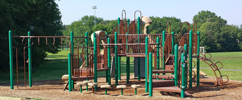 Playground equipment at Ellanor C Lawrence Park