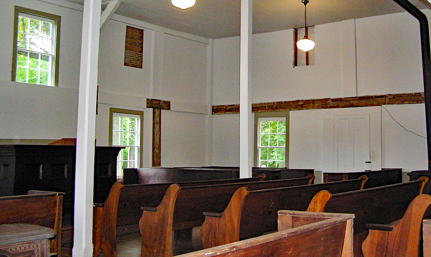 The interior of the Meeting House