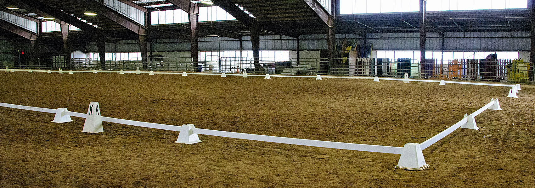 Riding area inside Frying Pan's equestrian barn